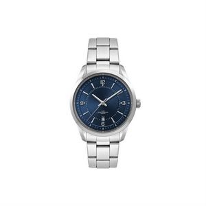 Ladies Blue Dial 33mm Metal Case Ladies Blue Dial 33mm Metal Case with Folded Steel Band