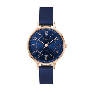 Ladies 34mm Rose Gold Metal Watch Ladies 34mm Rose Gold Metal Watch with Blue Sunray Dial