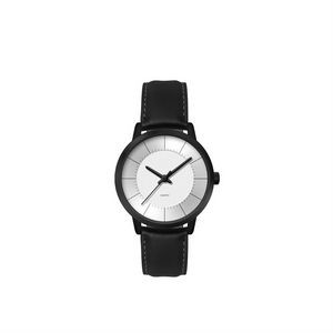 Ladies 30.5mm Metal Case Ladies 30.5mm Black Metal Case with Silver Dial