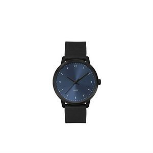 Ladies 39.5mm Metal Cas0 Ladies 30.5mm Black Metal Case with Blue Dial